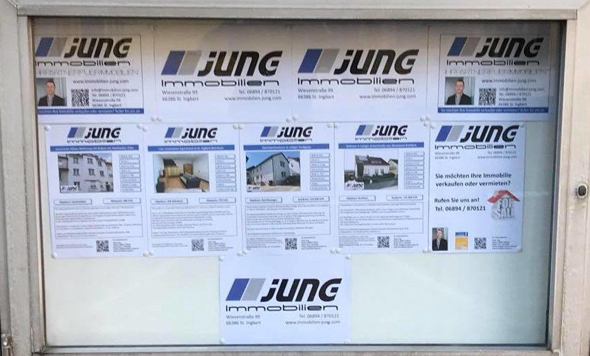 neue Werbefläche von Jung Immobilien in St. Ingbert