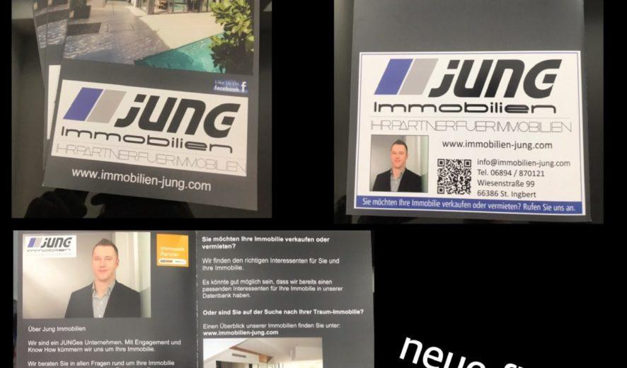 Frisch gedruckt: Neue Flyer von Jung Immobilien!